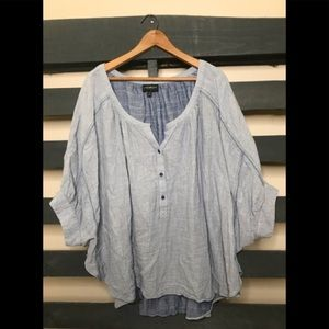 Lane Bryant short sleeve popover blouse 18/20